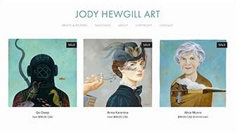 Jody Hewgill Art Website