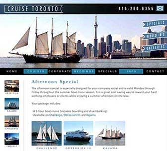 Cruise Toronto Website Specials page