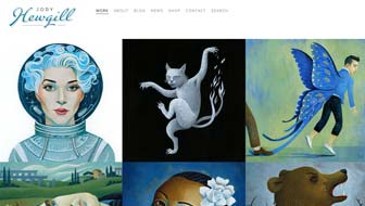 Jody Hewgill Illustration Website home page