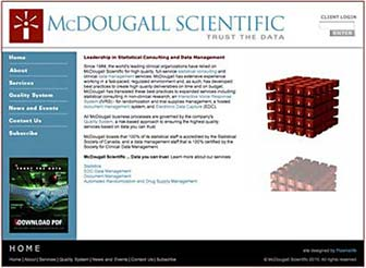 McDougall Scientific website home page