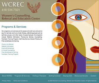 WCREC Website programs and services