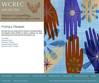 WCREC Website Finding a Therapist