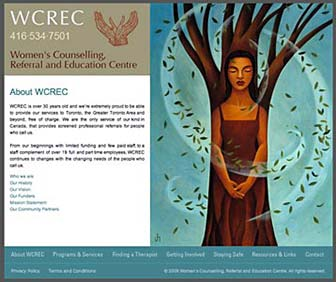 WCREC Website home page